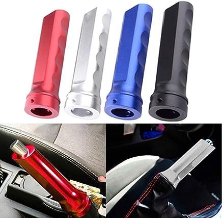 PinShang Universal Car Handbrake Sleeve Racing Style Aluminum Alloy Brake Handle Cover Black