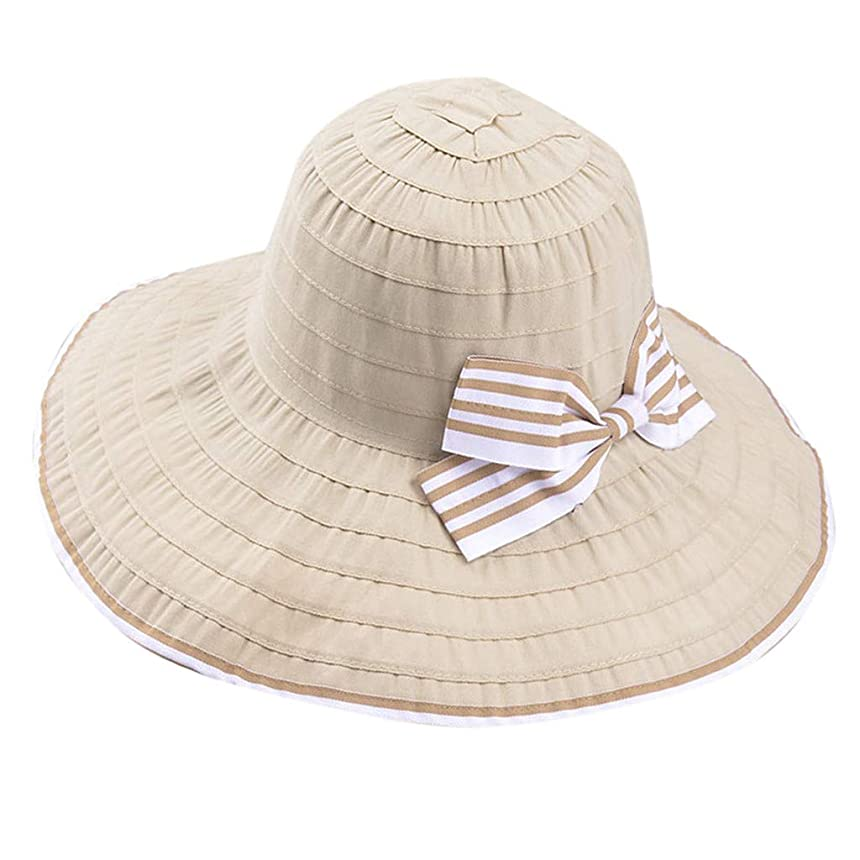 ホップひばり完璧な帽子 サイズ調整 テープ ハット 黒 ニット帽 ビーチサンダル ターバン 夏 ベレー帽 レディース 女優帽 日よけ 熱中症予防 日焼け 折りたたみ 持ち運び つば広 自転車 飛ばない 夏 春 サイドリボン ROSE ROMAN