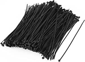 uxcell Nylon Strip Zip Wire Cable Tie Fastener Off 2mmx150mm 500pcs