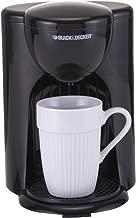 Black+Decker 330W Coffee Maker, One Cup Coffee Machine for Drip Coffee and Espresso with Coffee Mug, DCM25-B5 Black