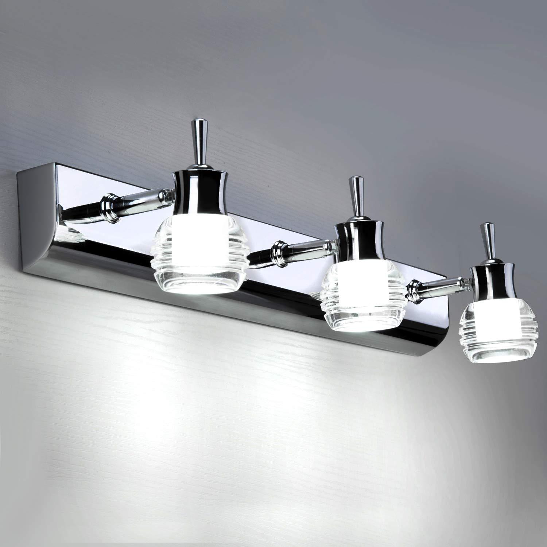 Lightess 20W Spiegelleuchte LED Bad 20°Drehbar 20cm Spiegellampe Kaltweiss  Wandmontage IP20 Schranklampe Spiegelschrank Leuchte Badlampe für Spiegel  ...