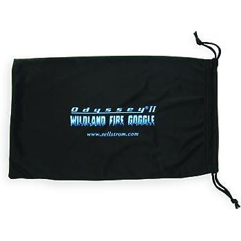Sellstrom Protective Eyewear Micro-Fiber Bag for Wildland Fire Eye Goggles, with Drawstring, Black, S79906