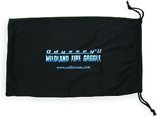 Sellstrom S79906 Wildland Fire Goggle, Micro-Fiber Storage Bag, Drawstring, Black