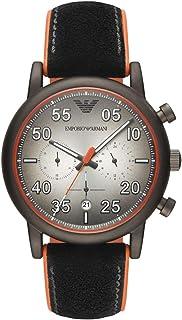 df26b05eda Emporio Armani Reloj Cronógrafo para Hombre de Cuarzo con Correa en Cuero  AR11174