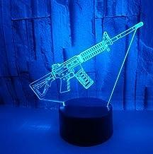 Geweer SFALHX 3D Nachtlampje voor Kinderen, 3D Illusion Lamp 16 Kleuren met Afstandsbediening, voor Jongens Meisjes als op...