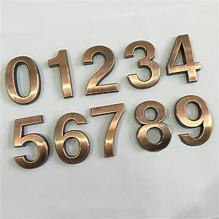 JJ.Accessory - Placa para número de casa (7 mm, aleación de zinc), marrón, Number 6