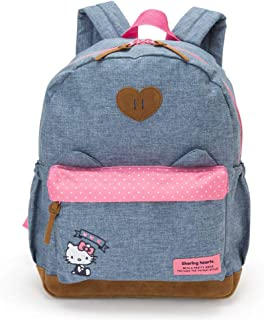 Sanrio Hello Kitty Backpack with Cat Ears Rucksack 26x35x15cm Grey Pink Polyester Japan Import 791903