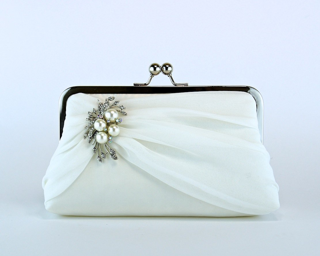 Ivory Chiffon Wedding Bag