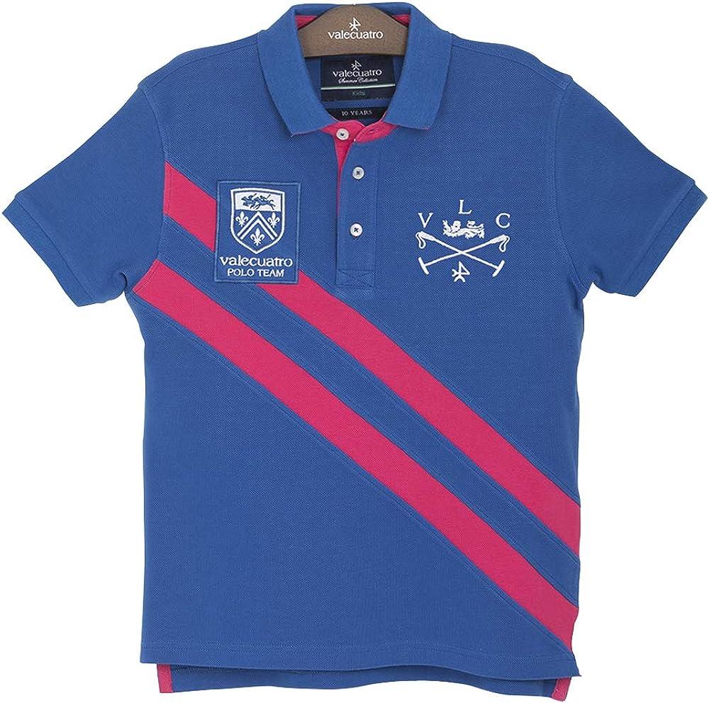 Short-Sleeved Polo Shirt with Stripes for Toddler Boys, 100% Cotton - Valecuatro