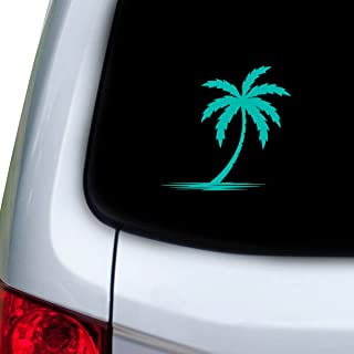 StickAny Car and Auto Decal Series Palm Tree Shadow Sticker for Windows, Doors, Hoods (Turquoise)
