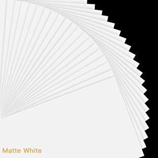 """Printable Vinyl Sticker Paper for Inkjet Printer - 8.5""""x11"""" 20 Sheets - Matte White Printable Sticker Paper Vinyl by JANDJPACKAGING"""