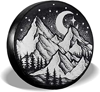 ADGoods Copertura dei Pneumatici Spare Tire Cover,Tire Protectors,Waterproof Wheel Covers,Happy Camper Universal Tyre Cover Camper Travel,Truck,RV,Jeep,SUV,Trailer 14 inch