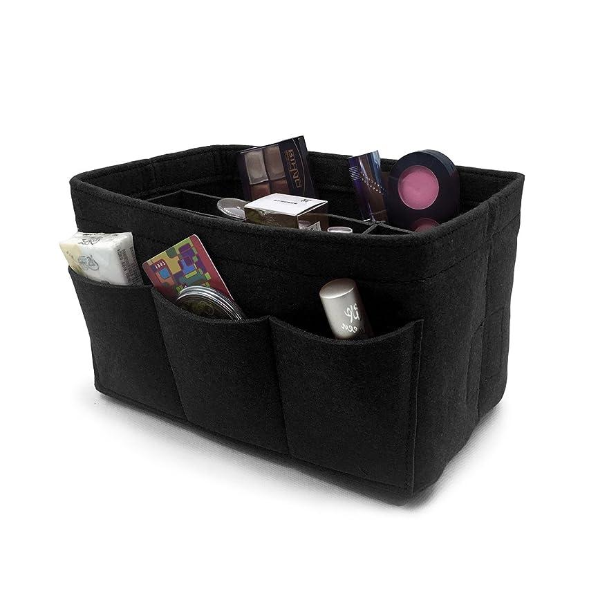 アミューズメント虐待早いVANCORE フェルト バックインバック レディース メンズ バッグインバッグ a4 インナーバッグ 軽量大容量 12ポケット鞄 オーガナイザー おしゃれ収納バッグ(2サイズ)