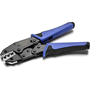 Qibaok Crimping Tool Ratcheting Wire Crimper for Heat Shrink Connectors Ratchet Terminal Crimper Wire Crimp Tool