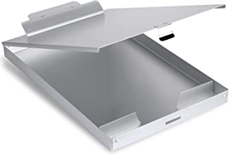 Quick Access Paper References for School Office /& Home Use AdirOffice Aluminum Dual Storage Clipboard Multi Compartment Desktop File Holder