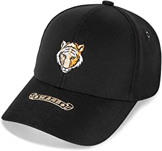 PPCP Spring and Summer Black Baseball Cap Embroidered Hat Street Tide Cap (Color : Black)