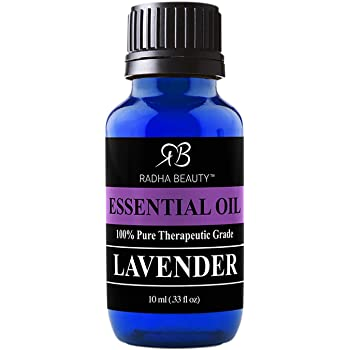 Radha Beauty Lavender Essential Oil 10ml - Premium Therapeutic Grade, Steam Distilled for Aromatherapy, Relaxation, Sleep, Laundry, Stress & Anxiety Relief, Meditation, Massage, Headaches