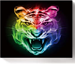 LEO BON DIY Oil Paint by Number Kit,Colorful Animal Roaring Tiger Drawing for Kids and Adults Beginner, Painting 16 by 20inch