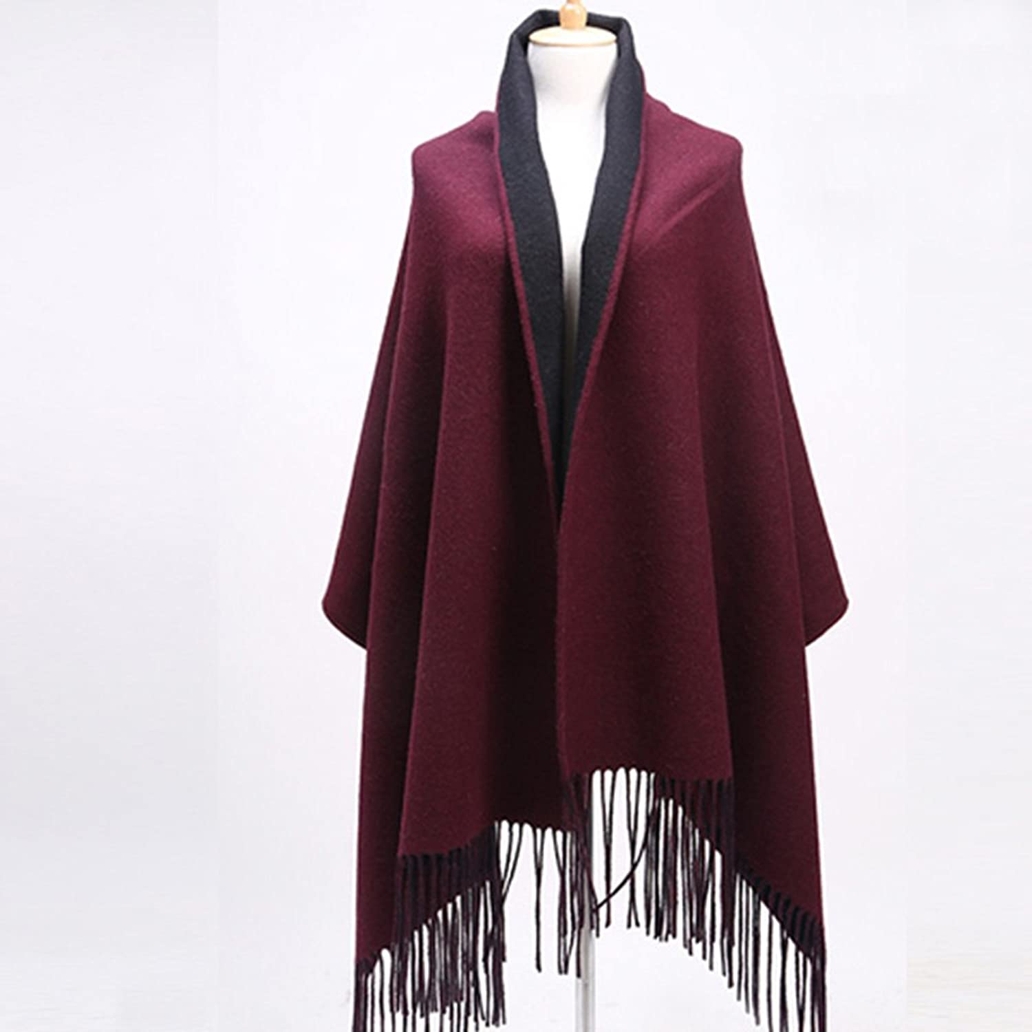 LJHA Scarf HighElastic DoubleSided Shawl Scarf Autumn and Winter Female color Scarf Double Heat Scarves (5 colors Optional) (70  210cm) (color   B)