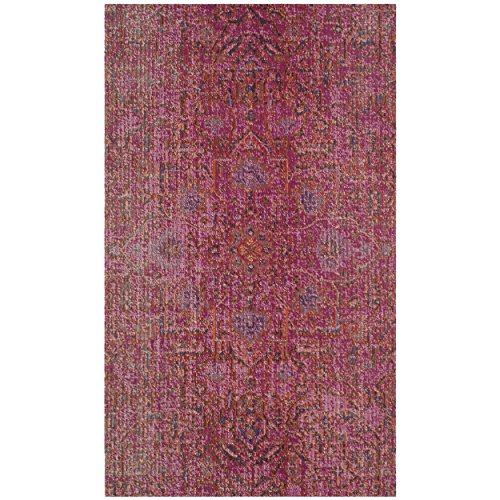 Safavieh Artisan Collection ATN339S Vintage Bohemian Fuchsia Distressed Area Rug (4' x 6')