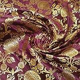 Textile Station Indischer Banarasi-Brokatstoff, florales