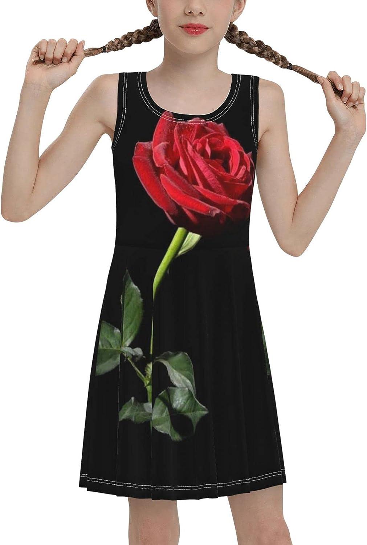 AMRANDOM Fashion Sleeveless Dress Scoop-Neck Tank Dresses Breathable for Summer Sports