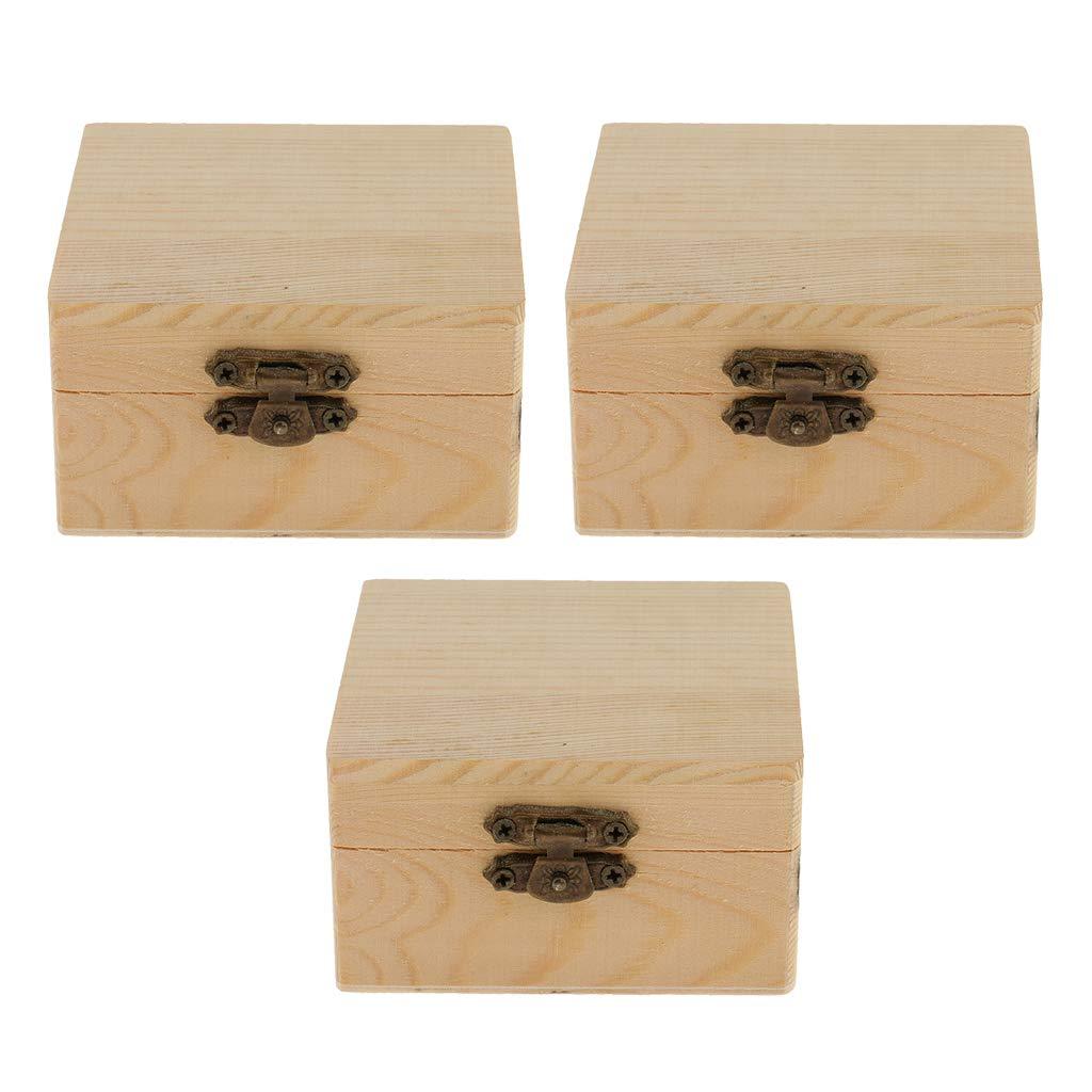 2 Piezas Creative Caja Madera para Decorar con Tapa, Caja de Costura de Madera: Amazon.es: Hogar