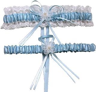 88549d4c818 XY Fancy 5 Colors Lace Ruffle Satin Wedding Garter Set of 2 Bridal Garter  Belt Toss
