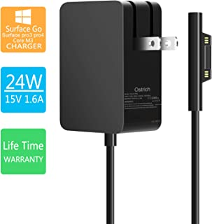 Surface Go Charger Surface Pro M3 Charger 24W 15V 1.6A Charger for Microsoft Surface Go/Surface Pro 4 Intel Core m3/Pro 3 Intel Core m3/Surface Pro 5th Gen Intel Core m3/Surface Laptop Intel Core m3
