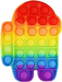Tweezer - Pop It Juguete Antiestrés Burbujas Figuras Colores (Among Us Rainbow)