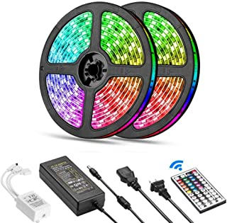 SKY-TOUCH 10 Meter 600LEDs Smart Bluetooth LED Strip Light RGB Sync to Music Light Remote Control Colorful Rope Lighting f...