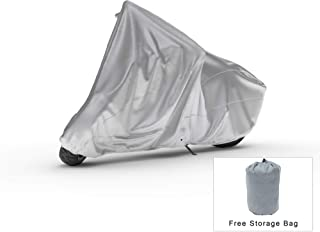 Weatherproof Motorcycle Cover Compatible With 2019 Piaggio Mp3 500 Sport Abs - Outdoor & Indoor - Protect From Rain Water, Snow, Sun - Reinforced Securing Straps - Durable Material - Free Storage Bag