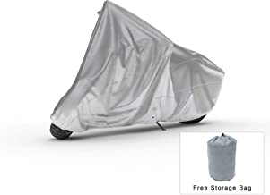 Weatherproof Motorcycle Cover Compatible With 2009 Triumph Speedmaster - Outdoor & Indoor - Protect From Rain Water, Snow, Sun - Reinforced Securing Straps - Durable Material - Free Storage Bag