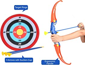Amitasha Kids Archery Bow and Arrow Toy Set with Target Outdoor Garden Fun Game