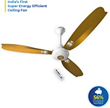 Superfan Super A1 Gold 1200 mm Ceiling Fan of 5 Star Rated with BLDC Motor and Remote Controlled