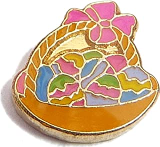 Easter Egg Basket Floating Locket Charm