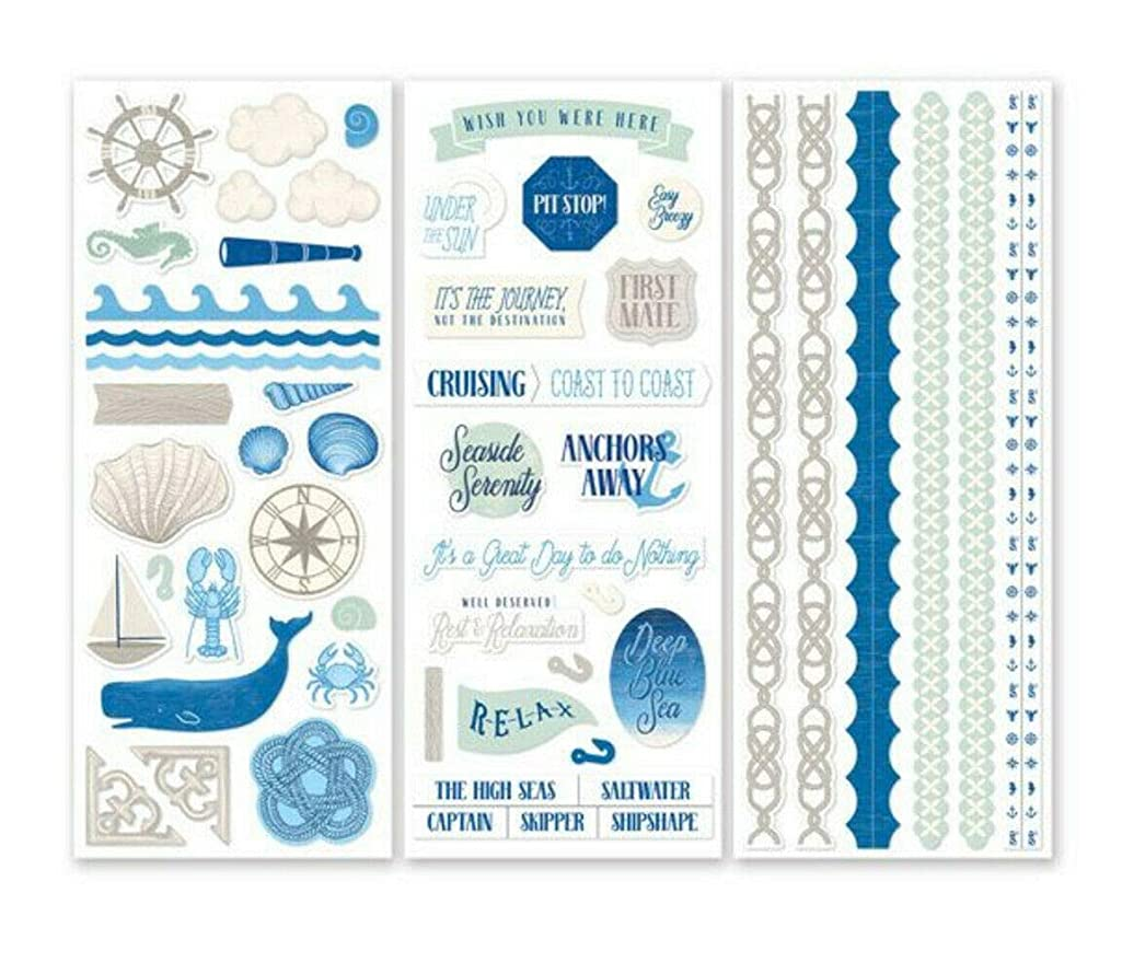 Deep Blue Sea Scrapbook Stickers (3/pk) Nautical Theme 12x12 by Creative Memories