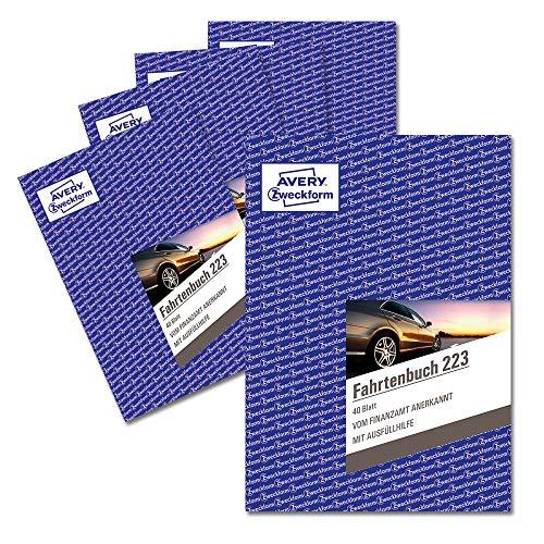 AVERY Zweckform 223-5 Fahrtenbuch (für PKW, vom Finanzamt anerkannt, A5, auf 80 Seiten für 858 Fahrten, für Deutschland und Österreich zur Abgrenzung privater und geschäftlicher Fahrten) 5er Pack