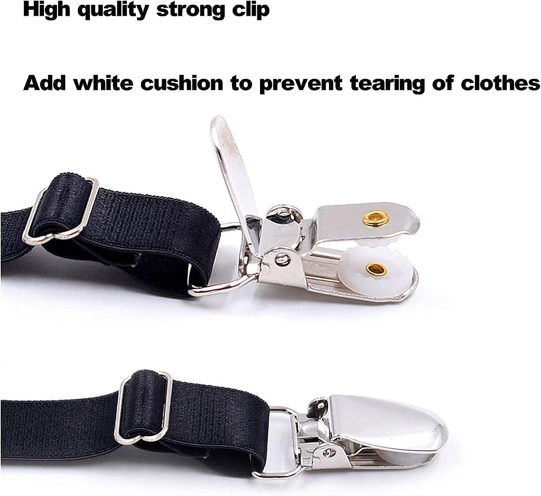 C-DON Shirt Stay Adjustable Elastic Shirt Garter for Men Shirts Holder Shirt Tucker for Police Military