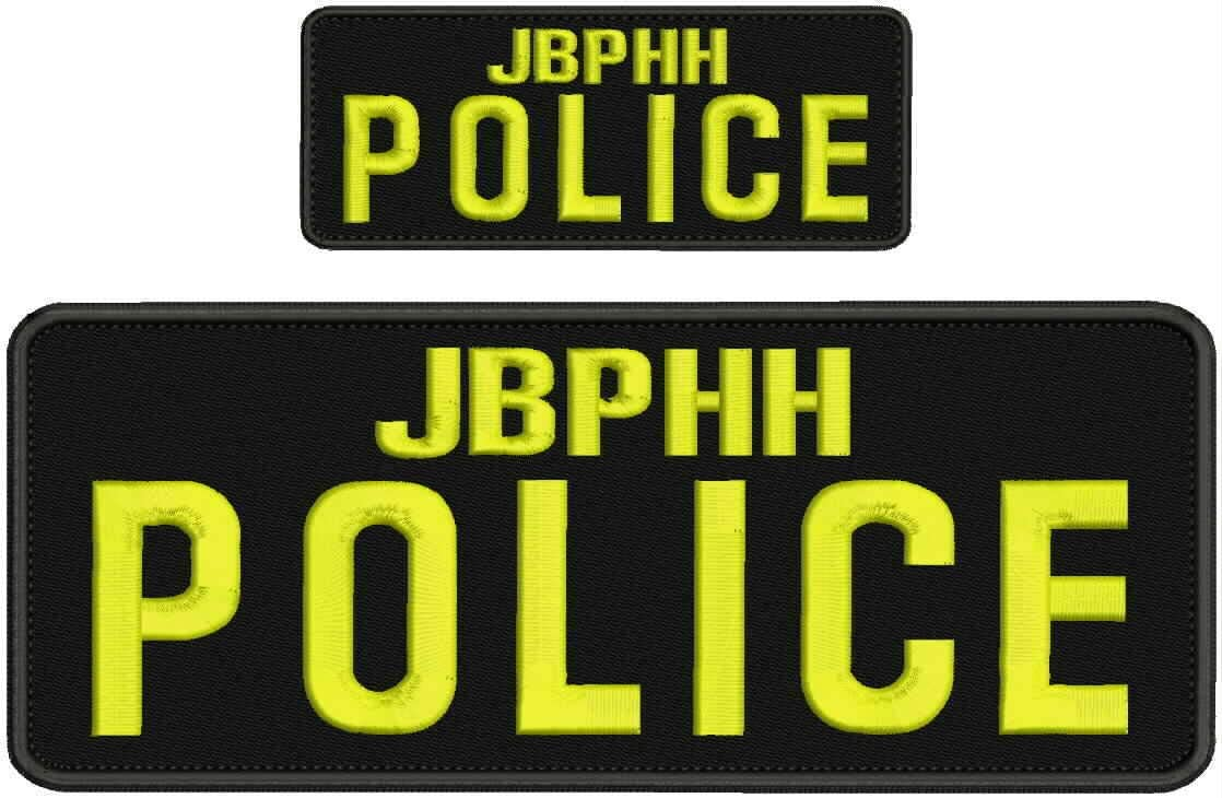 Outlet SALE JBPHH Police Embroidery Patches 4x10 25% OFF and Letters Yellow 2X5 Hook