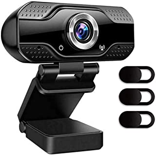 Webcam With Microphone, 1080P HD Camera USB Computer Webcam Plug And Play For Online Teaching/Video Conferencing/Recording...