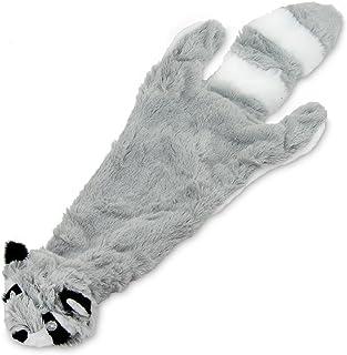Best Pet Supplies 2-in-1 Fun Skin Stuffless Dog Squeak Toy, Large, Raccoon
