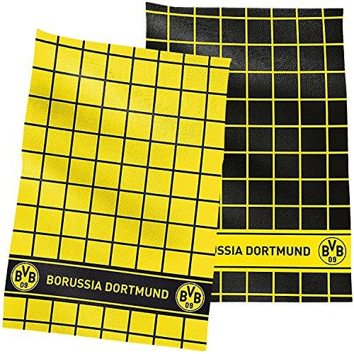 Borussia Dortmund Geschirrtuch / Küchentuch / Geschirr - Handtuch 2er Set BVB 09