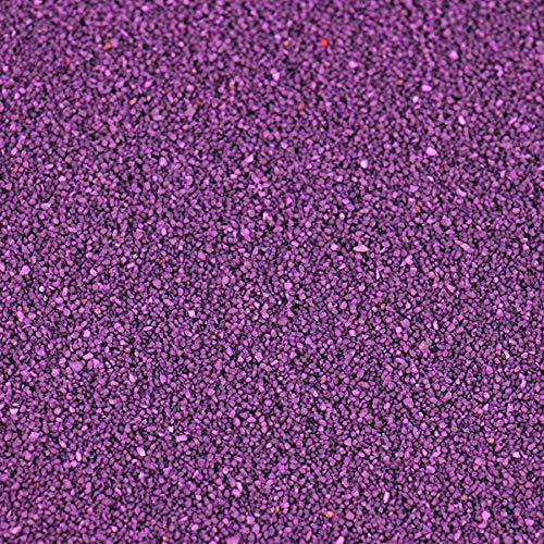 trendmarkt24 Farbsand 1000g / 1kg aubergine Deko Sand für vielseitige Bastelideen tolle Tischdeko/Tischdekoration zum Befüllen von Glasgefäßen Vasen Teelichthalter bunter Sand 27556-A