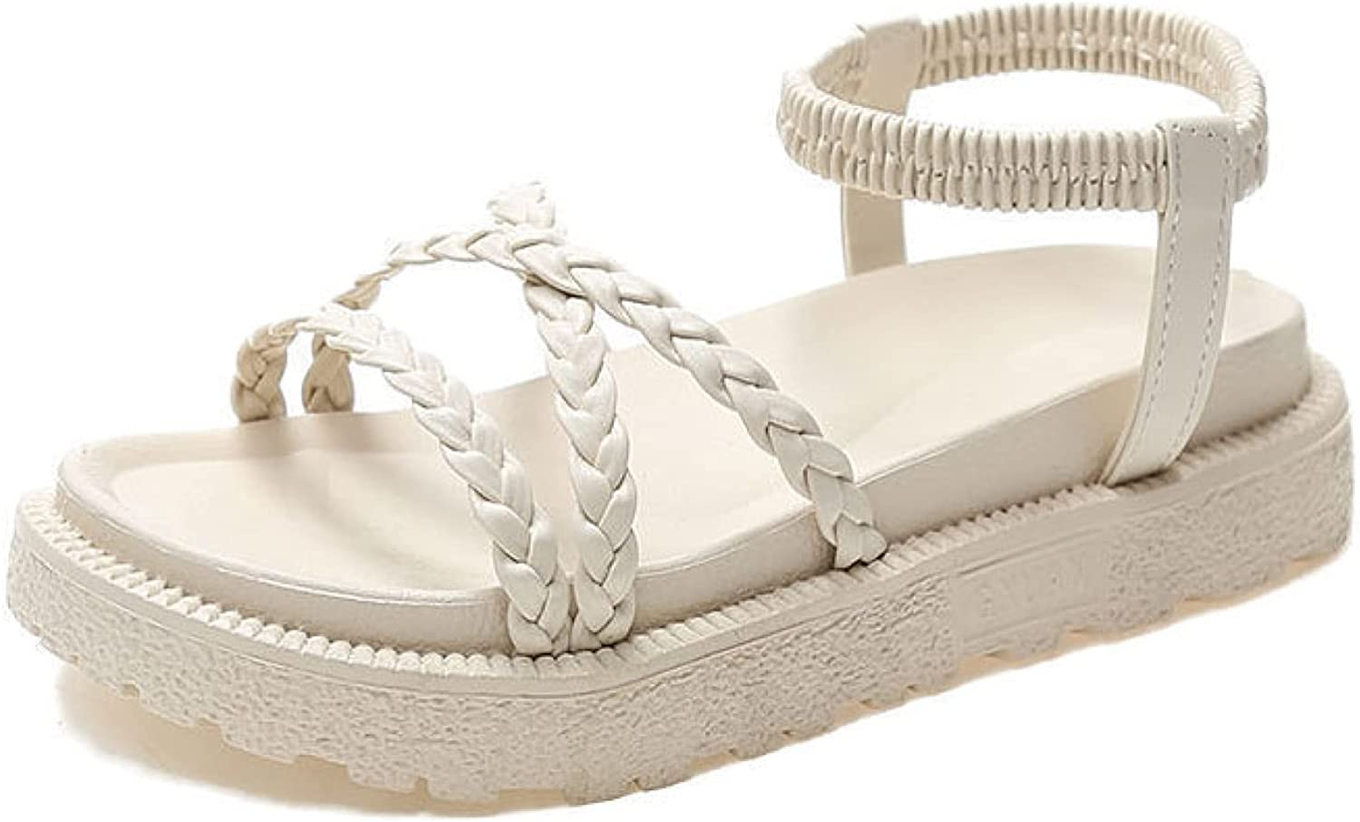 Wedge Shoe for Women Simple PU An Weave Outdoor Very popular Toe Straps Peep Import