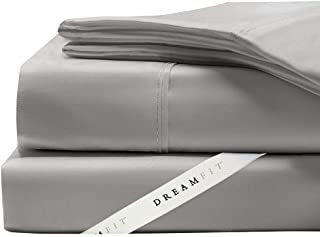 Dreamfit Sheet Sets All Degree Styles, Colors, and Sizes - Made in The USA with The Dreamflex Corner Straps (King Degree 4, Grey)