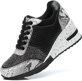 Zapatillas Deportivas Plataforma Cuña para Mujer - ANJOUFEMME Zapatos Wedge Sneakers Mujer, Apto para Todas Las Estaciones …