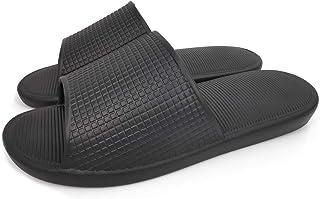Ofoot Womens Summer Open Toe Bath Slippers Soft Non Slip Lightweight Shower Slides