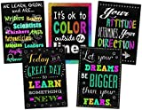 Teacher Created Resources Poster Set, Chalkboard Brights Positive Poster Pack (TCR6658)