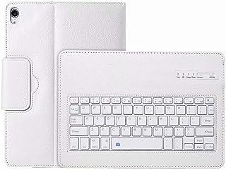 Ikevan Bluetooth キーボード iPad Pro 11インチ 2018年発売 スリム スマート Bluetooth キーボード レザーケースカバー iPad Pro 11'' ホワイト